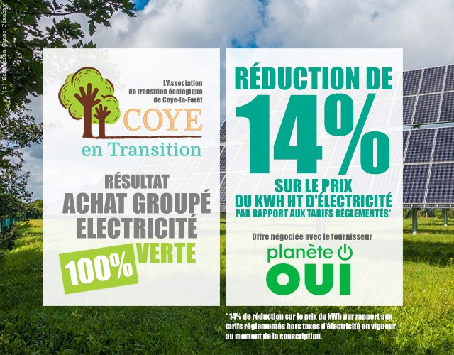 Achat groupé énergie verte