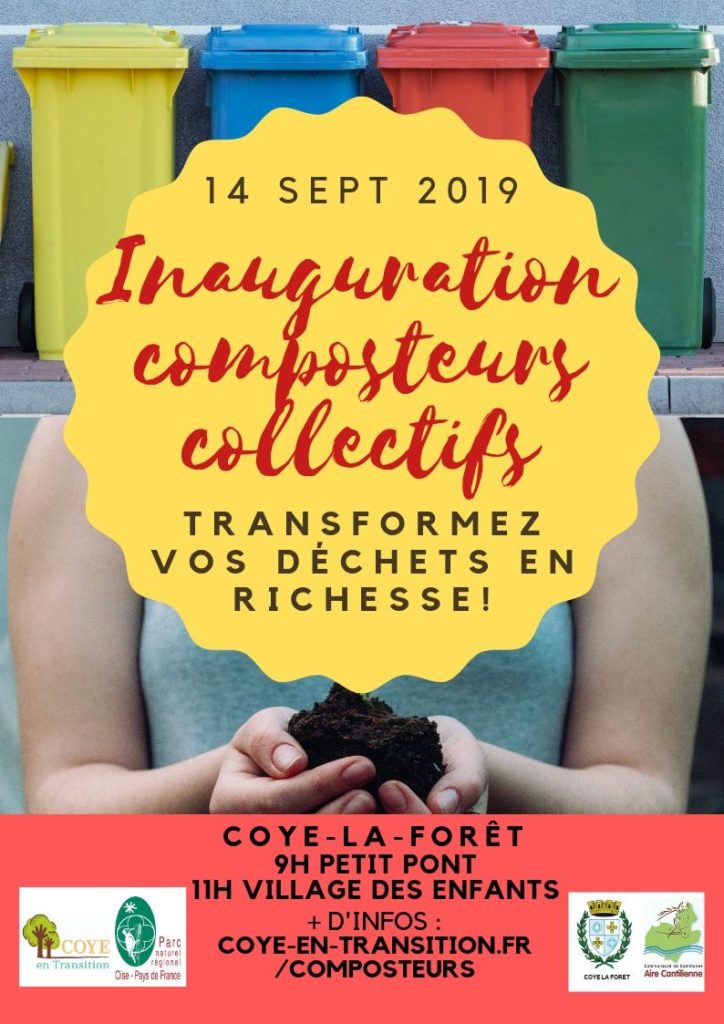 Inauguration composteurs collectifs Coye en Transition